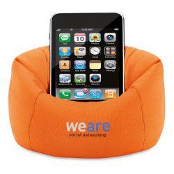 Porte téléphone portable pouf