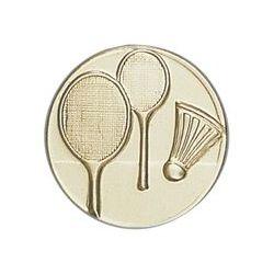 Pastille dorée Badminton - 25 ou 50 MM