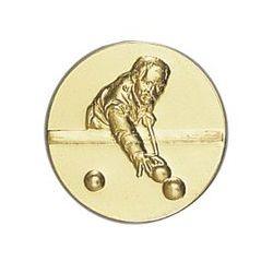 Pastille dorée Billard - 25 ou 50 MM