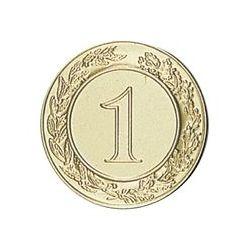Pastille dorée Numéro 1 - 25 ou 50 MM