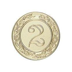 Pastille dorée Numéro 2 - 25 ou 50 MM