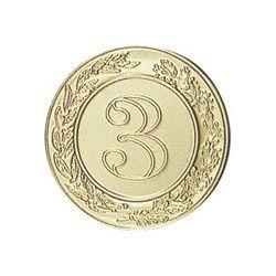 Pastille dorée Numéro 3 - 25 ou 50 MM