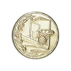 Pastille dorée Basket - 25 ou 50 MM