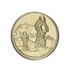 Pastille dorée Cyclisme- 25 ou 50 MM