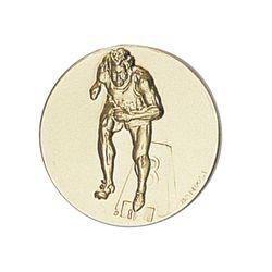 Pastille dorée Course à pied 25 ou 50 MM