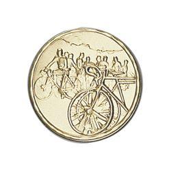 Pastille dorée Cyclisme 25 ou 50 MM
