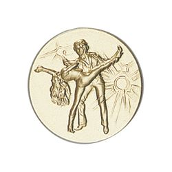Pastille dorée Danse 25 ou 50 MM
