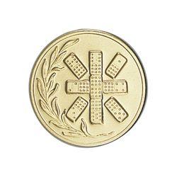 Pastille dorée Dominos 25 ou 50 MM