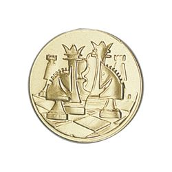 Pastille dorée Echecs 25 ou 50 MM