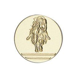 Pastille dorée Equitation 25 ou 50 MM