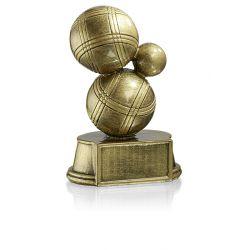 Trophée Boule Pétanque personnalisé