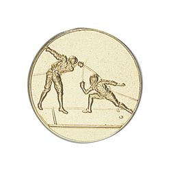 Pastille dorée Escrime 25 ou 50 MM