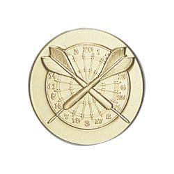 Pastille dorée Fléchettes 25 ou 50 MM