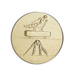 Pastille dorée Gymnastique 25 ou 50 MM