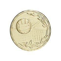 Pastille dorée Volleyball 25 ou 50 MM