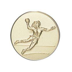 Pastille dorée Handball 25 ou 50 MM