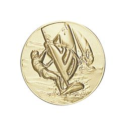 Pastille dorée Planche à voile 25 ou 50 MM
