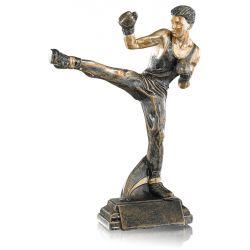 Trophée Boxe française personnalisé