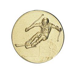 Pastille dorée Ski 25 ou 50 MM