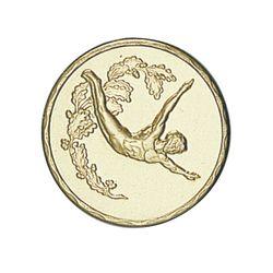 Pastille dorée Natation 25 ou 50 MM