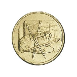 Pastille dorée Peinture 25 ou 50 MM