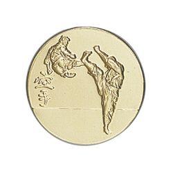 Pastille dorée Karaté - 25 ou 50 MM