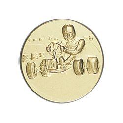 Pastille dorée Karting 25 ou 50 MM
