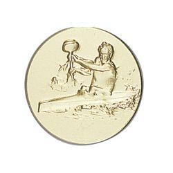 Pastille dorée Canoë 25 ou 50 MM