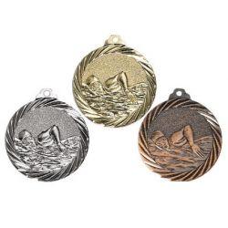Médaille Natation Or, Argent et Bronze - 32MM