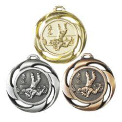Médaille frappée JUDO Or, Ar, Br - 40MM