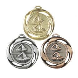 Médaille frappée NATATION Or, Ar, Br - 40MM