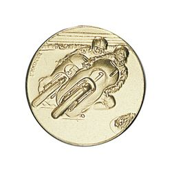 Pastille dorée Moto 25 ou 50 MM
