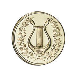 Pastille dorée Musique 25 ou 50 MM