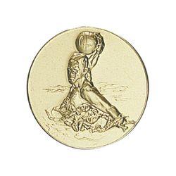 Pastille dorée Waterpolo 25 ou 50 MM