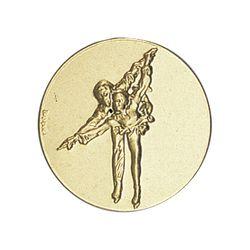 Pastille dorée Patinage - 25 ou 50 MM