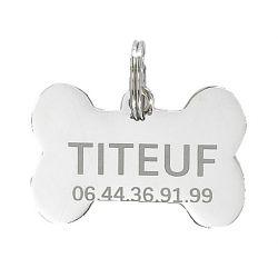 Médaille Os pour animaux - Gravure incluse