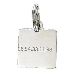 Médaille pour animaux Carré - Gravure incluse