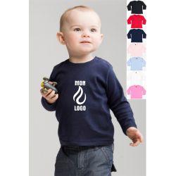 T-shirt bébé manches longues personnalisé
