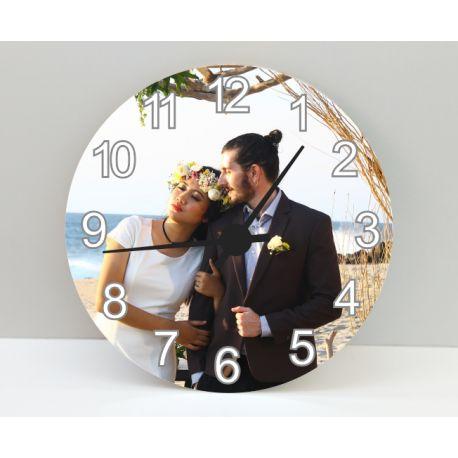 Horloge ronde personnalisée