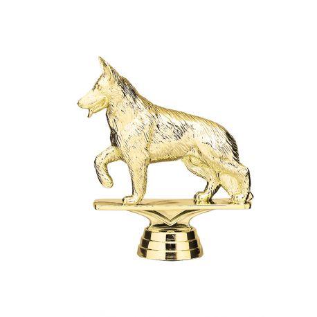 Figurine chien dorée fabicado nord