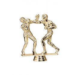 Figurine boxe dorée 13 cm