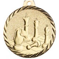 Médaille Echecs Métal doré - 50MM