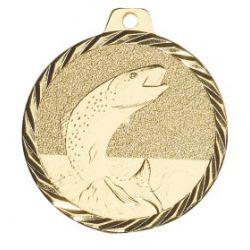 Médaille Poisson Métal doré - 50MM