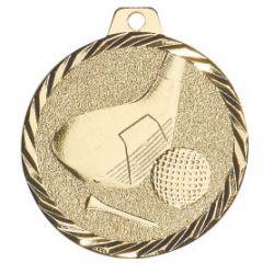 Médaille Golf Métal doré - 50MM