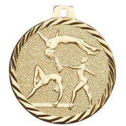 Médaille Gymnastique Métal doré - 50MM