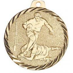 Médaille Rugby Métal doré - 50MM