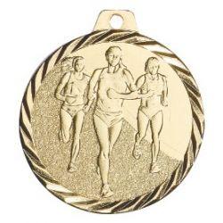 Médaille Course féminin Métal doré - 50MM