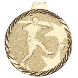 Médaille Football Métal doré - 50MM