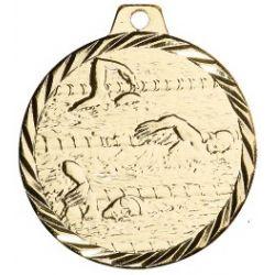 Médaille Natation Métal bronze - 50MM