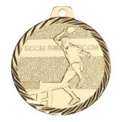 Médaille Ping-pong Métal Doré - 50MM